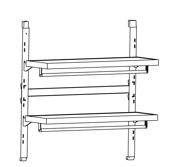 Hanging Rod for External shelf